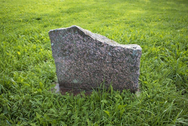 Pierre vide commémorative plate de granit photo libre de droits