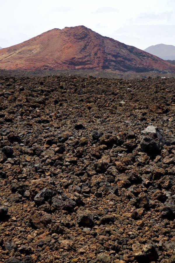 Download Pierre Volcanique Dans Le Résumé De Colline De Ciel De Roche De Lanzarote De Volcanes De Visibilité Directe Photo stock - Image du fleur, trou: 56488290