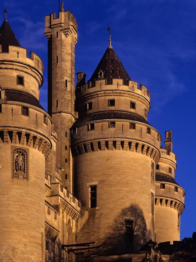 Pierrefonds del castillo francés fotos de archivo