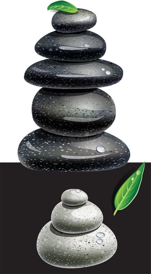 Pierres équilibrées De Zen Images libres de droits