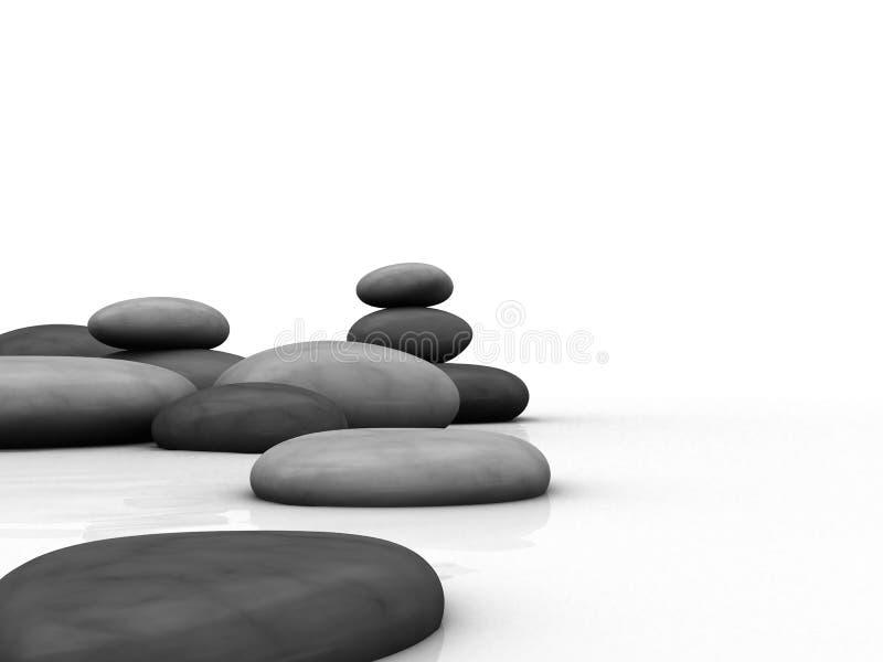 pierres 3d illustration libre de droits