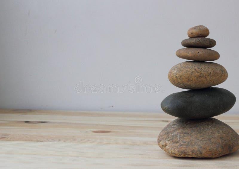 Pierres d'équilibre d'harmonie de zen photos libres de droits