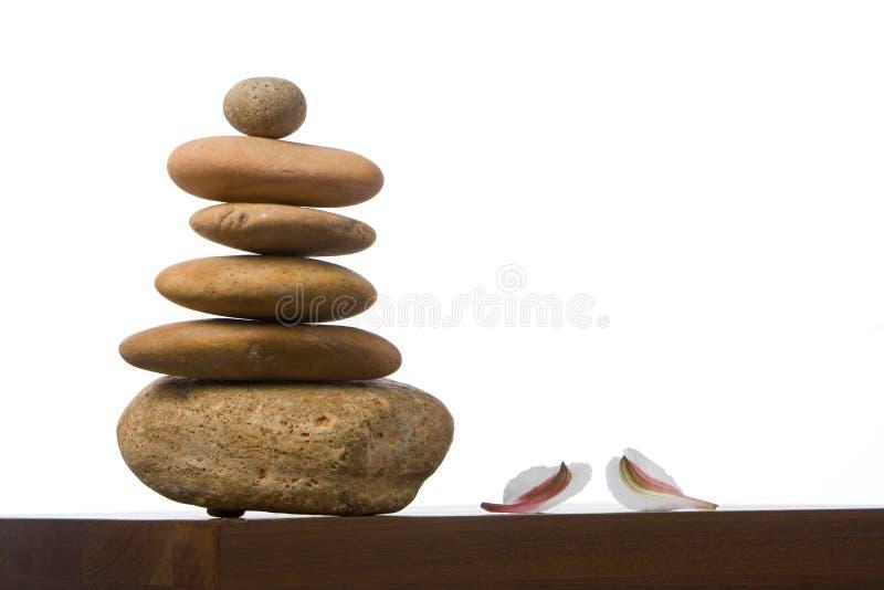 Pierres dans l'équilibre images libres de droits