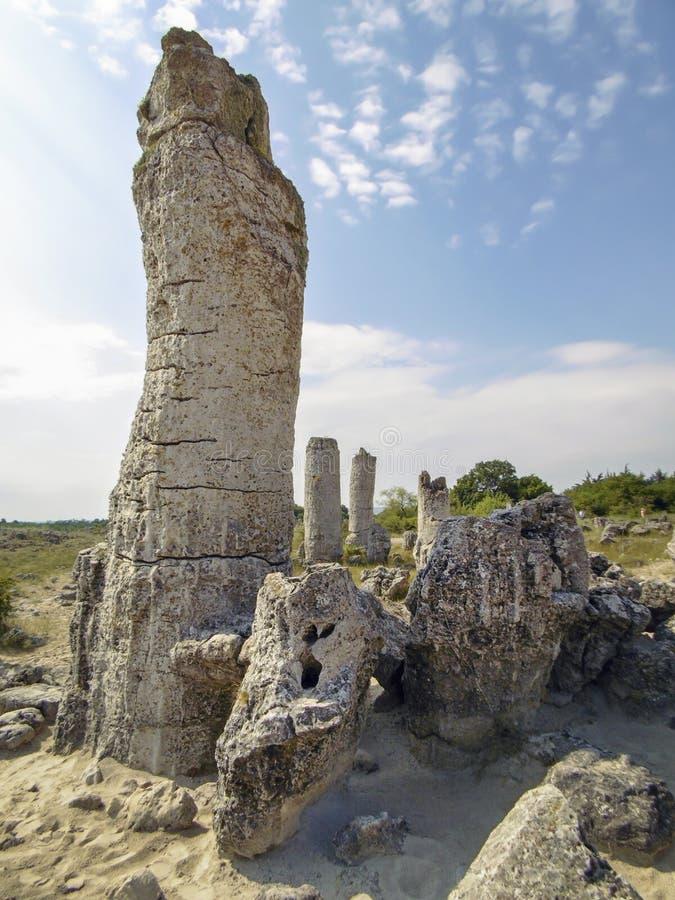 Pierres dans la forêt en pierre près de Varna en Bulgarie photo libre de droits