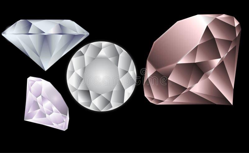 Pierres de diamants illustration stock