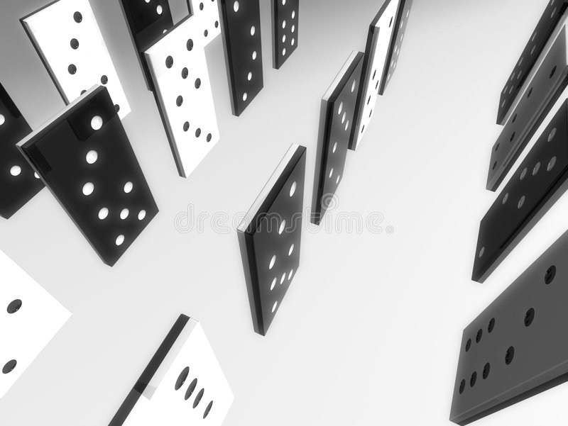 Pierres de domino illustration libre de droits