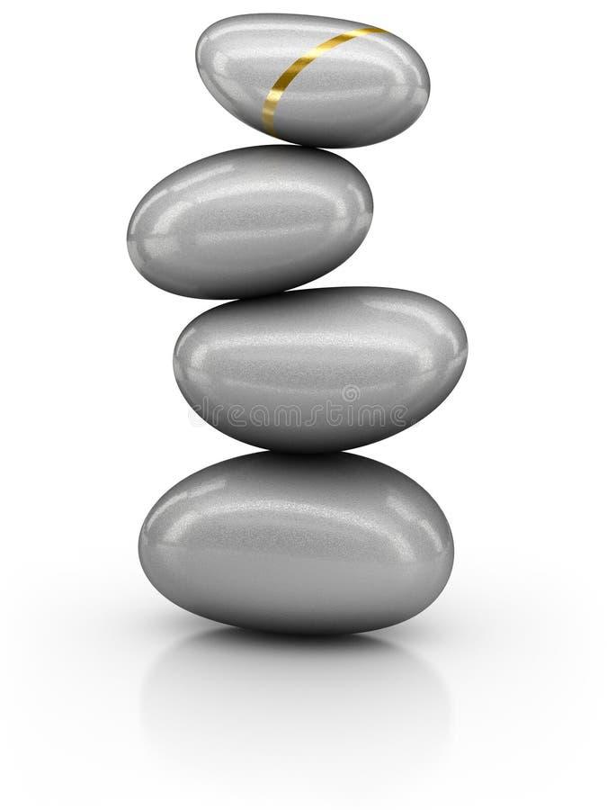 pierres de pile illustration de vecteur