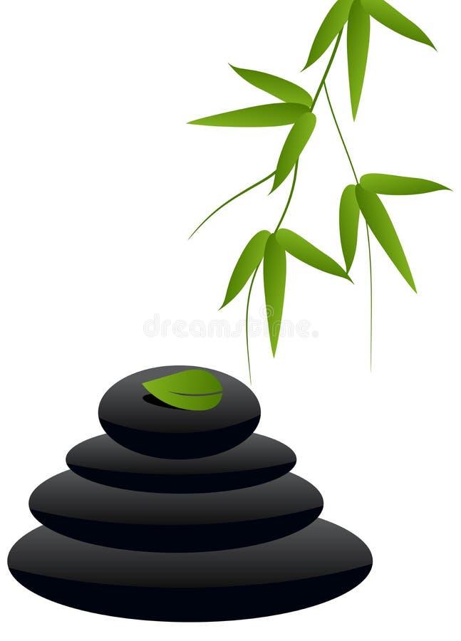 Pierres de zen illustration de vecteur