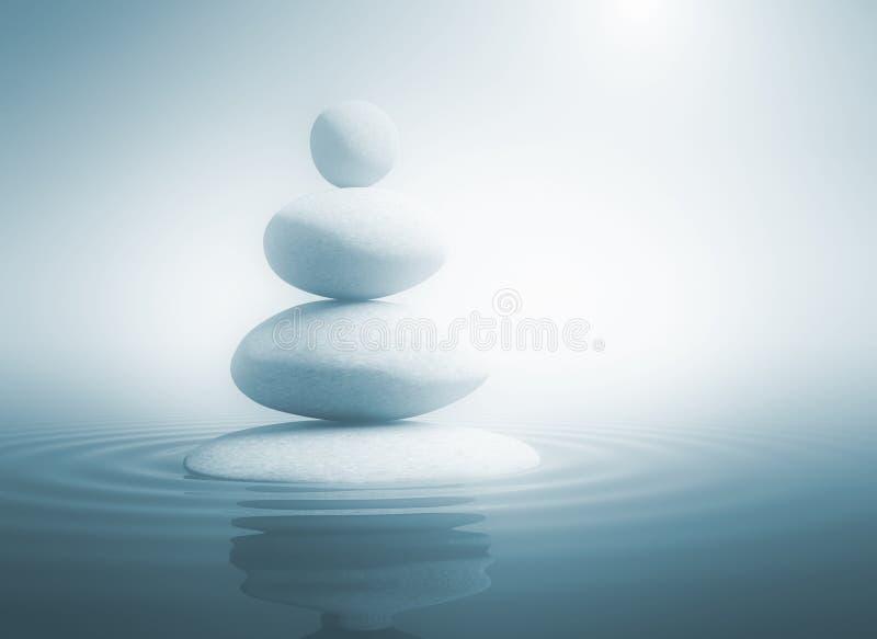 Pierres de zen dans l'équilibre illustration stock