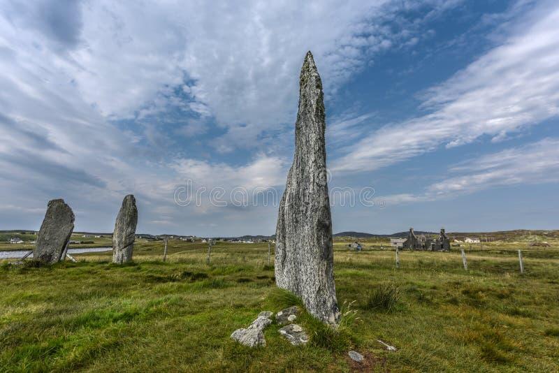 Pierres debout sur l'île de Lewis, Ecosse, Royaume-Uni image libre de droits