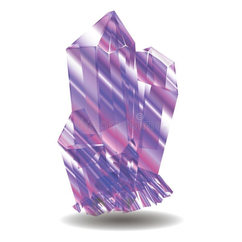 Pierres en cristal d'améthyste photo stock