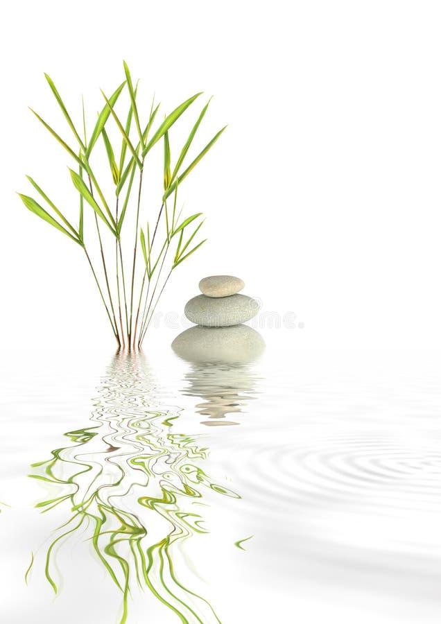 Pierres et bambou de station thermale de zen photos stock