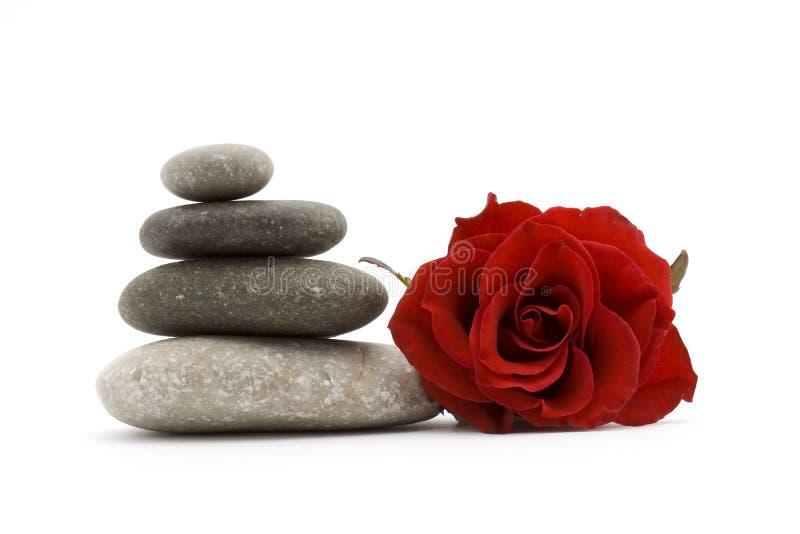 Pierres et fleur de zen photographie stock
