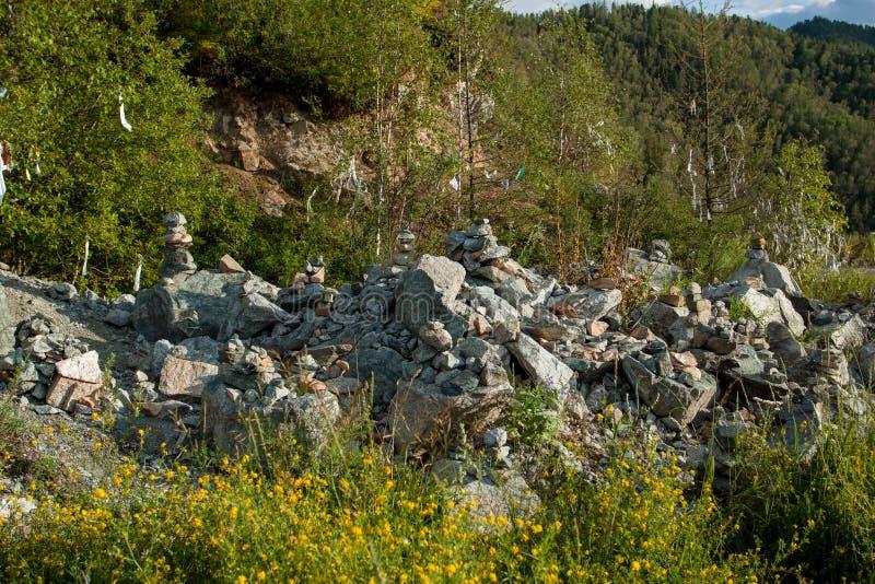 Pierres funèbres pliées photo libre de droits