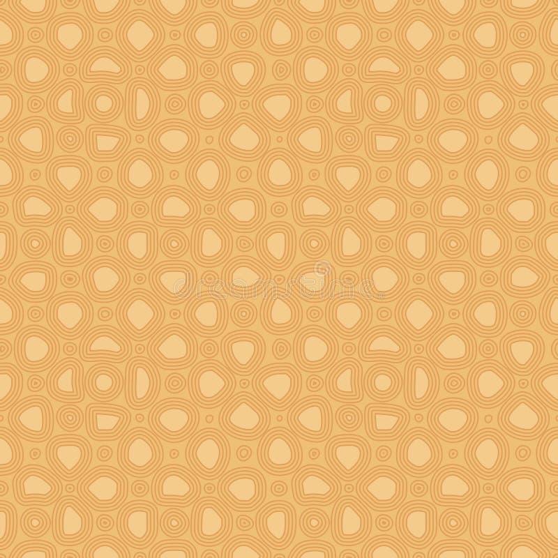 Pierres plates abstraites, mod?le ethnique tir? par la main Ornement confortable de vecteur r?tro pour le textile, copies, papier illustration stock