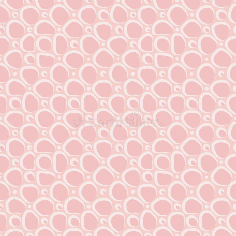 Pierres plates abstraites, mod?le ethnique tir? par la main Ornement de rose de vecteur r?tro pour le textile, copies, papier pei illustration stock