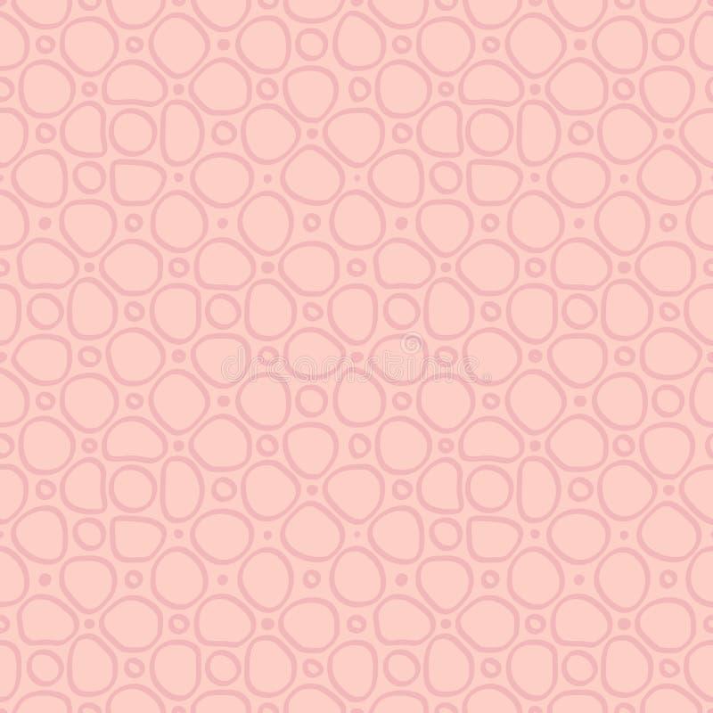 Pierres plates abstraites, mod?le ethnique tir? par la main Ornement de rose de vecteur r?tro pour le textile, copies, papier pei illustration de vecteur