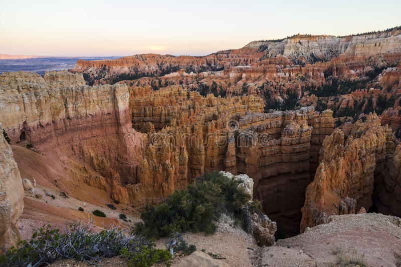 Pierres rouges en Bryce Canyon photos stock