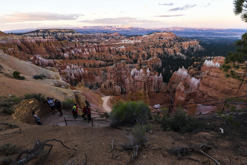 Pierres rouges en Bryce Canyon images stock