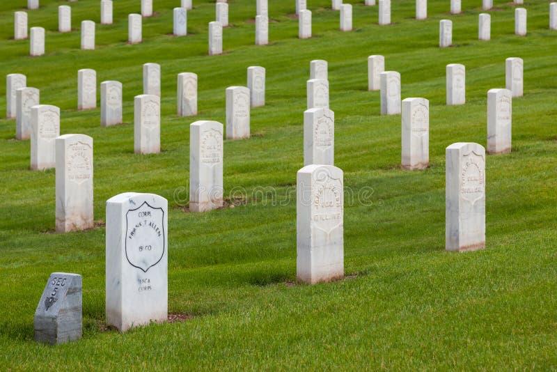 Pierres tombales de soldats de guerre civile images libres de droits