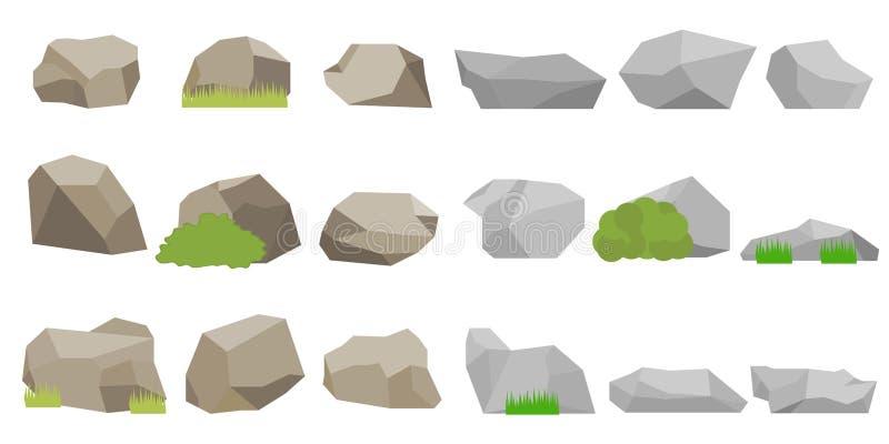 Pierres, un ensemble de pierres illustration libre de droits