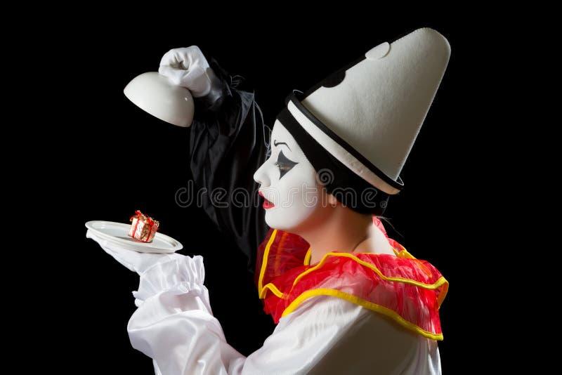 Pierrot的惊奇 免版税库存图片