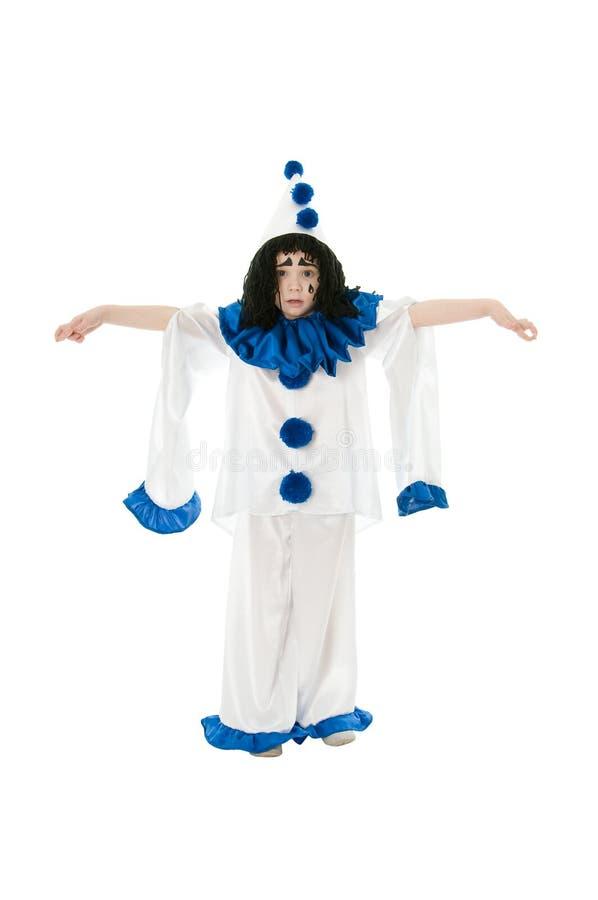 Download Pierrot stock image. Image of humor, dress, black, child - 18635715