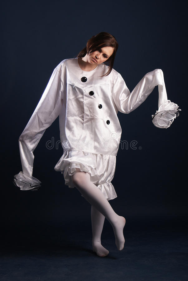 Pierrot costume.Isolated royalty free stock photography