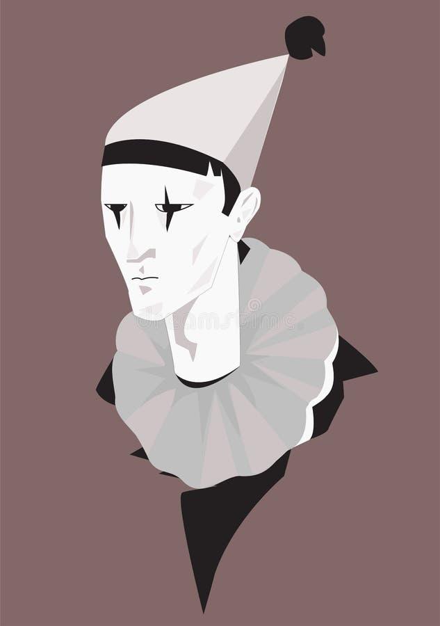 Pierrot dell'illustrazione immagini stock