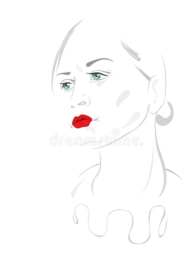 Download Pierrot Girl stock vector. Image of people, elegance - 32670470