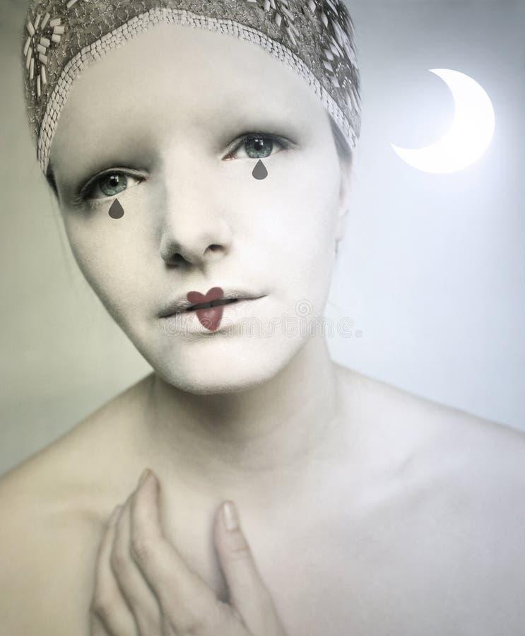 Pierrot Lunaire στοκ φωτογραφία με δικαίωμα ελεύθερης χρήσης
