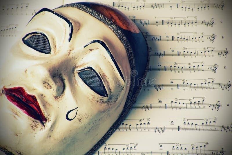 Pierrot mask royalty free stock photo