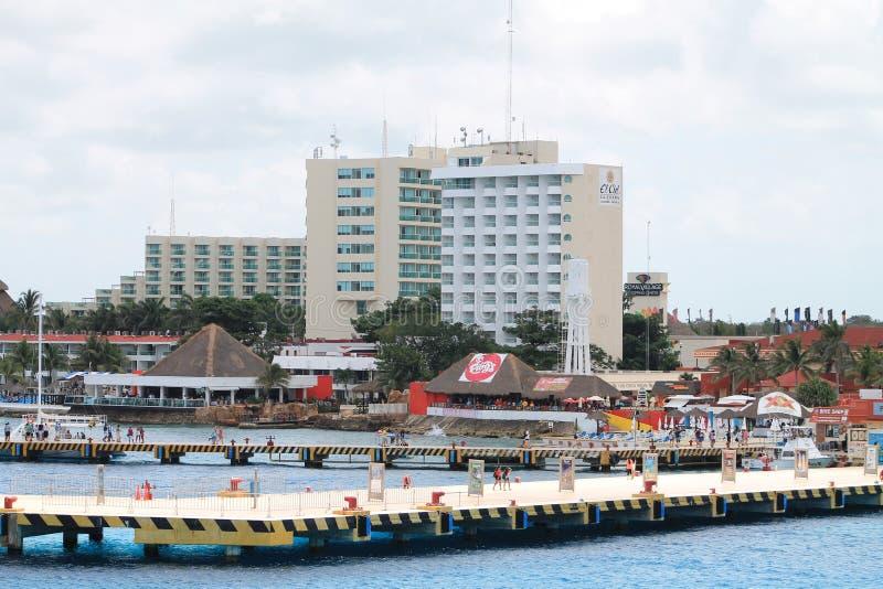 Piers mexican coastline royalty free stock image