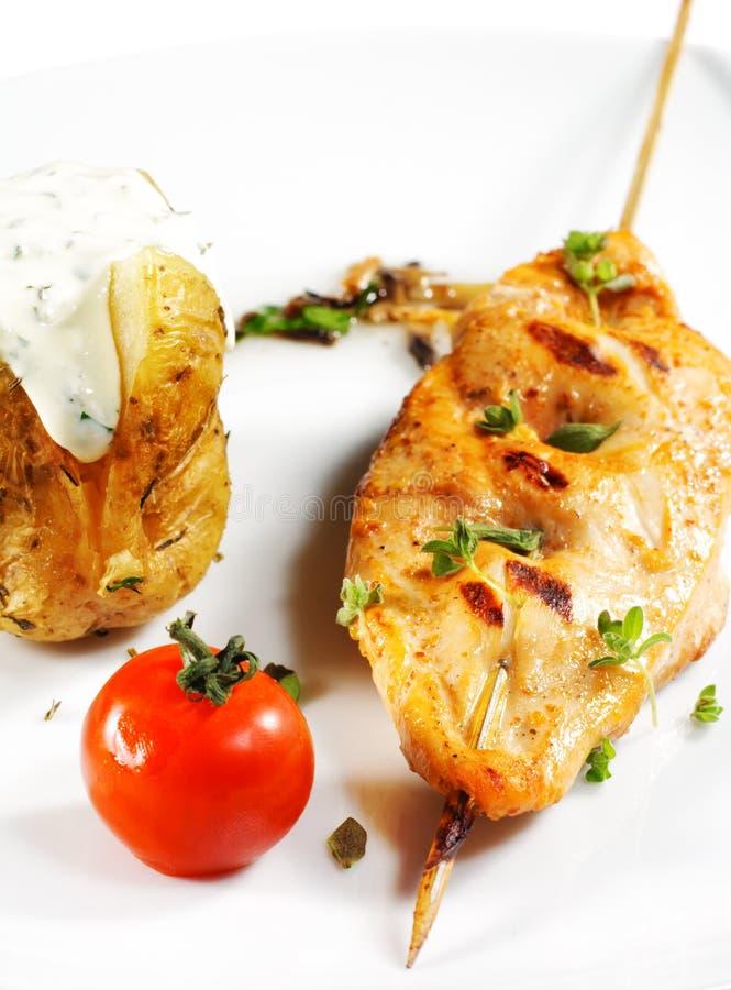piersi kurczaka kebab shish zdjęcia royalty free