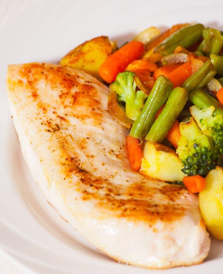 piersi kurczaka warzywa obrazy stock
