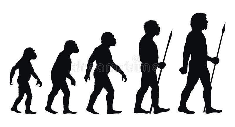 Pierwotni ludzie ilustracja wektor