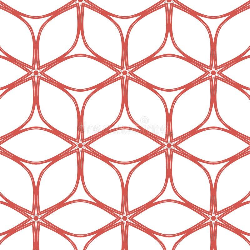 Pierwotny prosty, miękka część różowy nowożytny wzór royalty ilustracja
