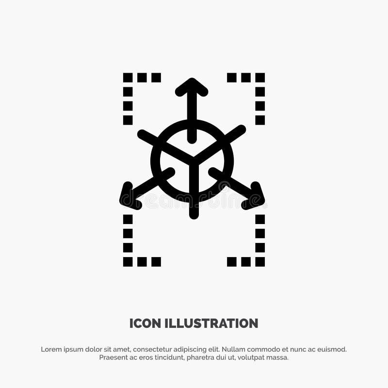 Pierwowzór, siatka, baza danych, mapa wektoru linii ikona ilustracja wektor