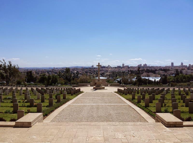 Pierwsza Wojna Światowa cmentarz Jerozolima fotografia royalty free