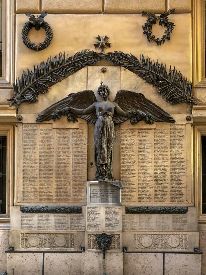 Pierwsza Wojna Światowa pomnik - Rzym, Włochy obraz royalty free