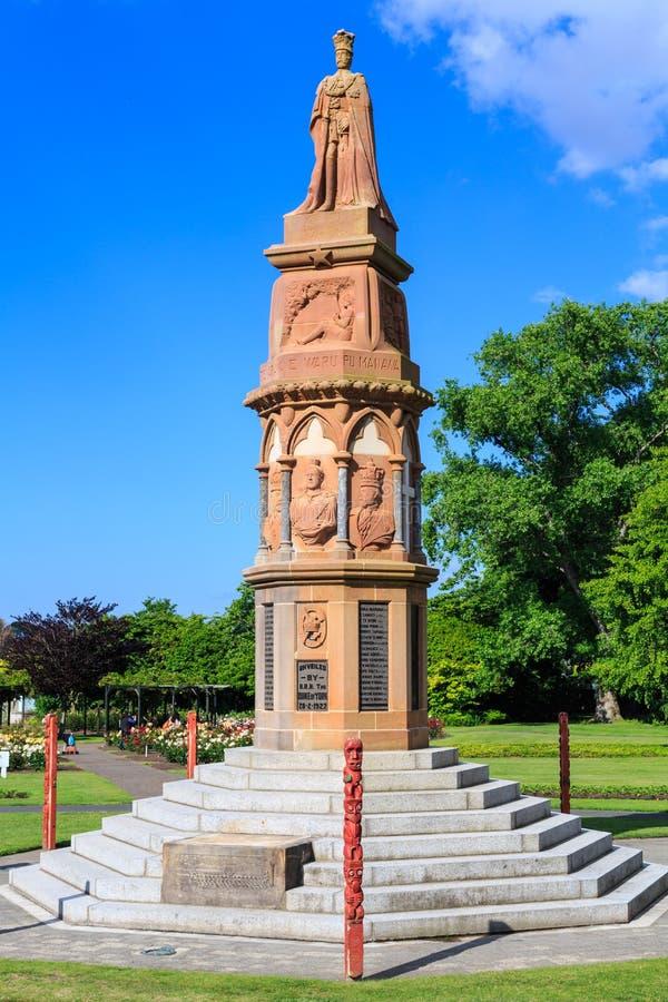 Pierwsza Wojna Światowa pomnik w Rządowych ogródach, Rotorua, Nowa Zelandia fotografia royalty free