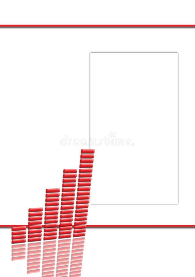 pierwsza a wykresu układu strony czerwony projektu ilustracja wektor