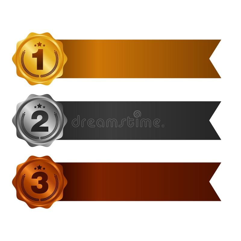 pierwsze miejsce po drugie należy umieścić umieszcza tercja Nagradza medale Ustawiających odizolowywającymi na bielu z faborkami  ilustracji