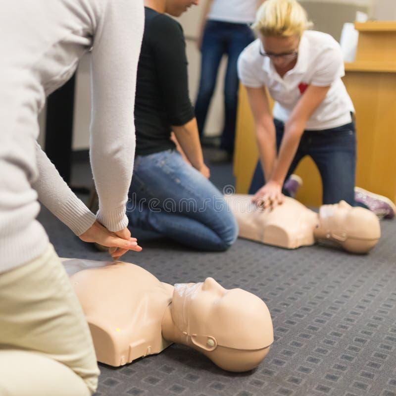 Pierwszej pomocy CPR konwersatorium obraz royalty free