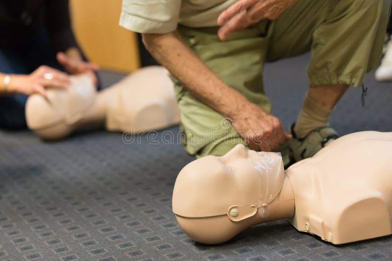 Pierwszej pomocy CPR konwersatorium zdjęcie royalty free