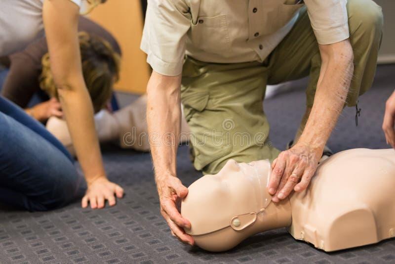 Pierwszej pomocy CPR konwersatorium zdjęcie stock