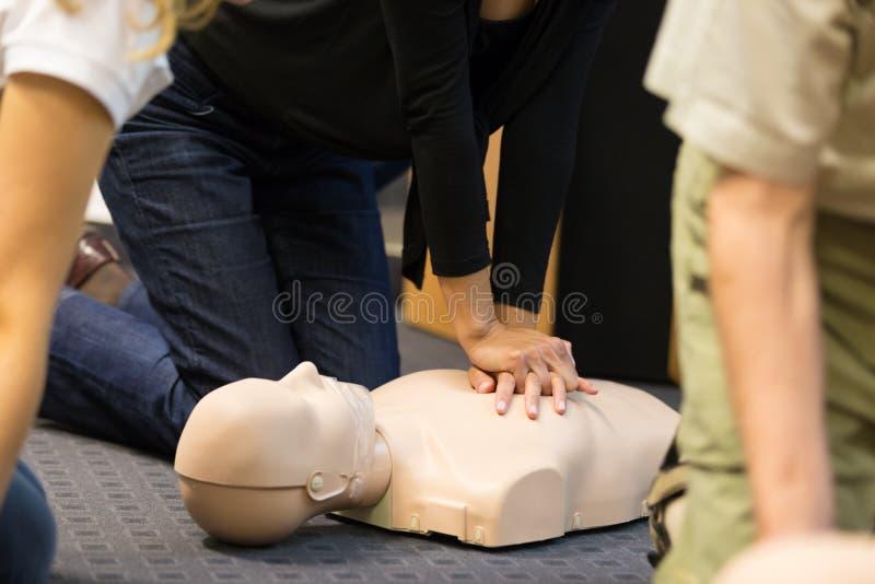 Pierwszej pomocy CPR konwersatorium obraz stock