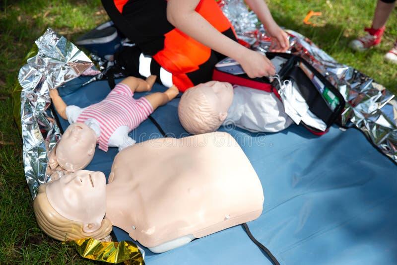 Pierwszej pomocy CPR konwersatorium fotografia royalty free