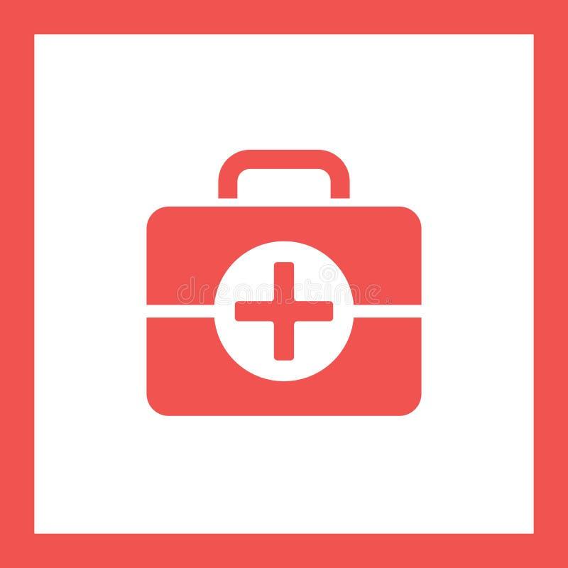 Pierwszej pomocy torby ikona ilustracji