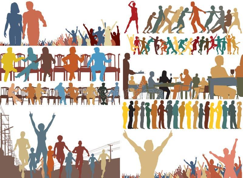pierwszoplanowi kolorów ludzie royalty ilustracja